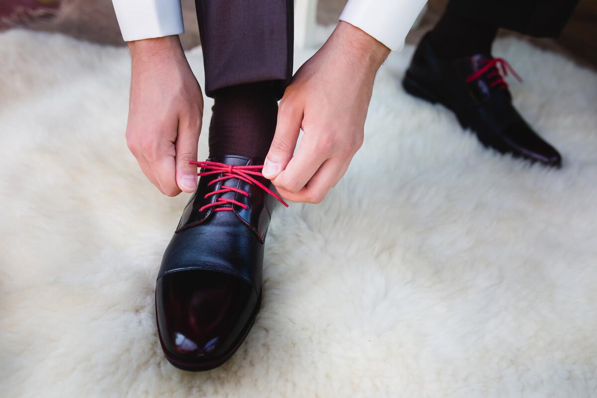 Uomo scarpa scelta