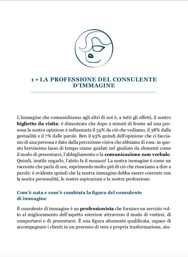 Cpaitoli 1 - La professione del consulente d'immagine